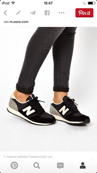 shoes new balance grey black