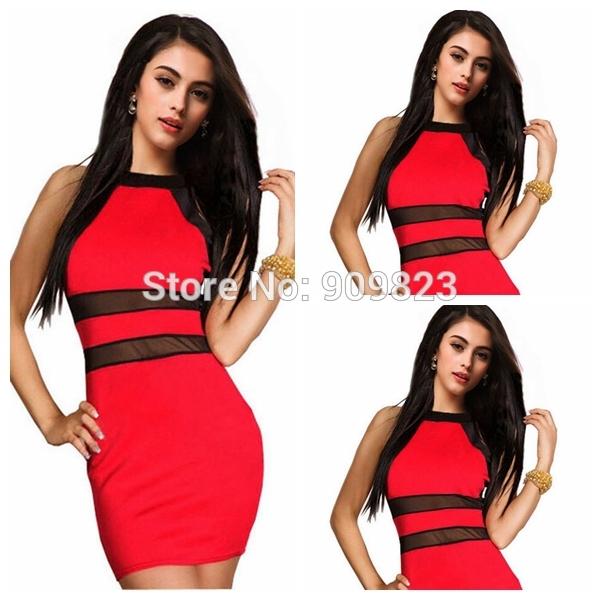 Aliexpress.com: купить черный и красный мини платье о шеи с плеча естественно оболочка сексуальная коктейль ну вечеринку платья 2014 мода из надежный платье купальники поставщиков на my classic garden