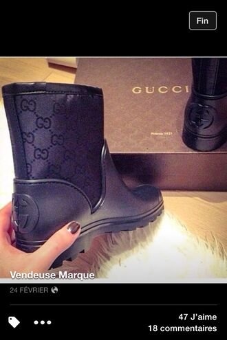 shoes gucci shoes boots black boots little black boots booties winter boots gucci boots gucci