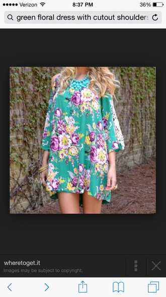 dress floral fashion