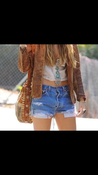 blouse shirt jacket bag shorts