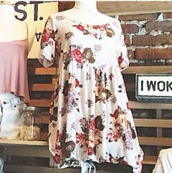 flashes of style dress floral dress brandy melville floral tank top youtuber