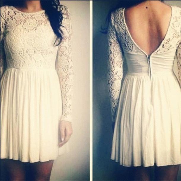 dress white dress lace dress skater dress