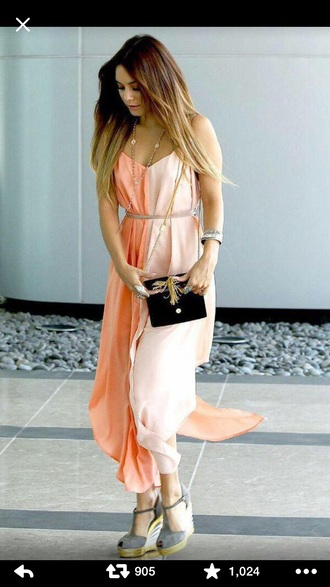 dress vanessa hudgens maxi dress pink dress