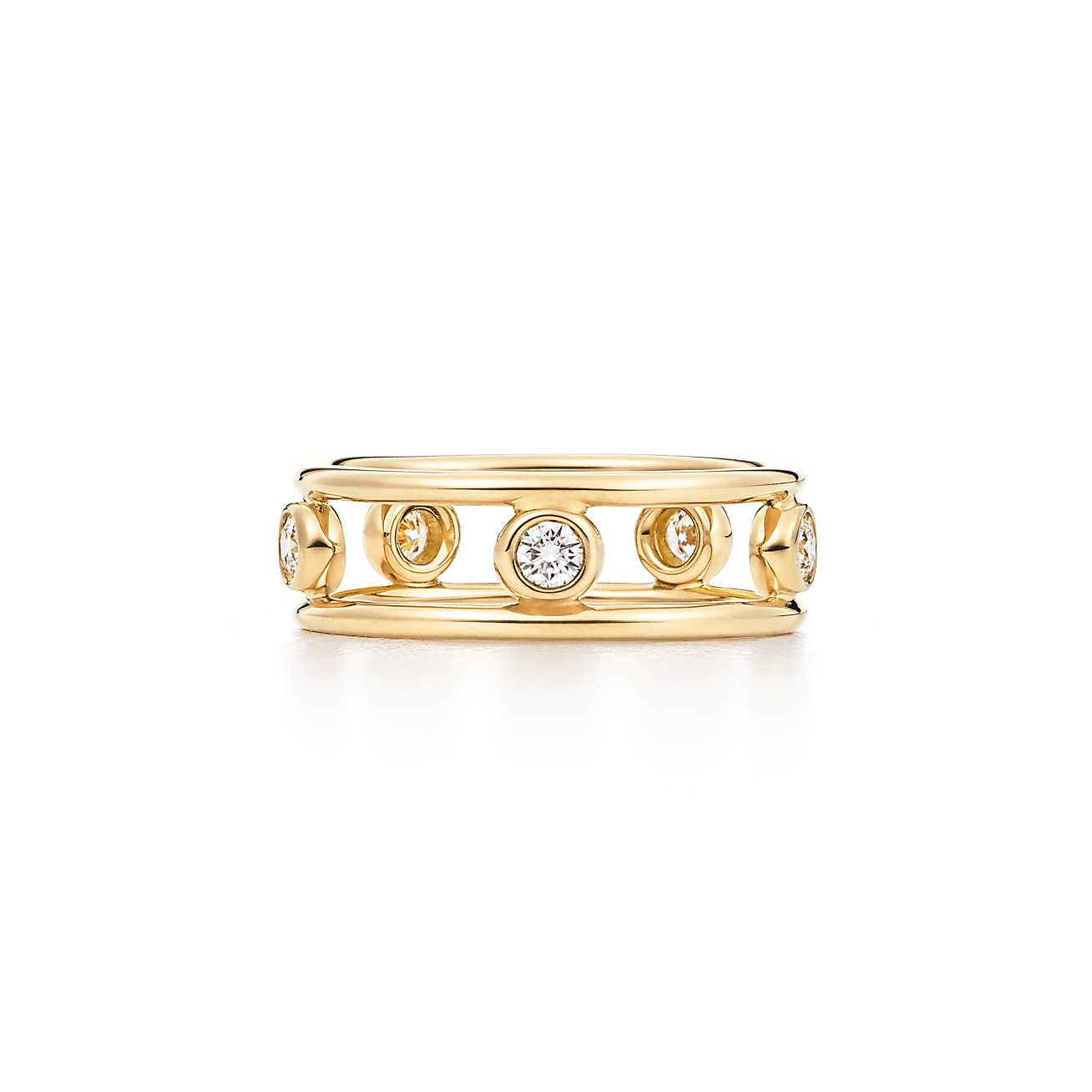 Elsa Peretti® Diamonds by the Yard® ring in 18k gold with diamonds.