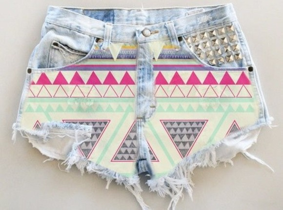 aztec shorts shoes aztec print high waisted short aztec short