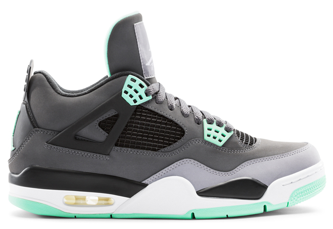 "Air Jordan 4 Retro ""Green Glow"" (Official Images) 