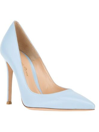 shoes light blue heels pointed toe silky