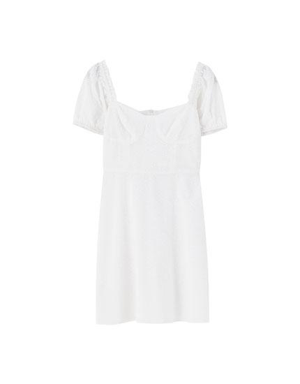 Sadie Sink white dress - pull&bear