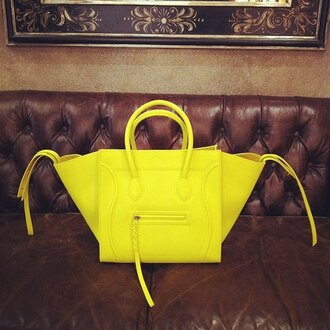bag handbag celine celine bag leather bag blackbarbie trendy summer outfits summer spring outfits fashion neon yellow cute outfits tumblr tumblr fashion haute couture leather purse celine paris shirt