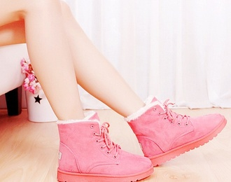 pink shoes comfy boots pink boots fluffy