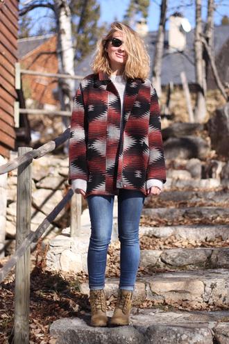 jane's sneak peak blogger jacket jeans native american