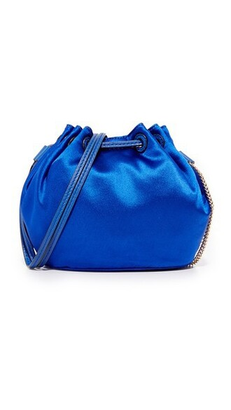 mini love drawstring bag satin