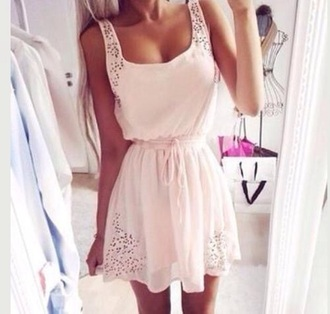 dress white lace summer girl vacation beach love fashion short pretty skinny slim hair long style shorts