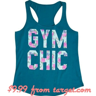tank top gym clothes gym chic floral tank top