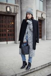 viennawedekind,blogger,jeans,sweater,coat,bag,hat,jewels,shoes,simon miller bag
