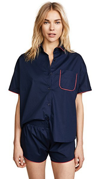 MAISON DU SOIR top navy