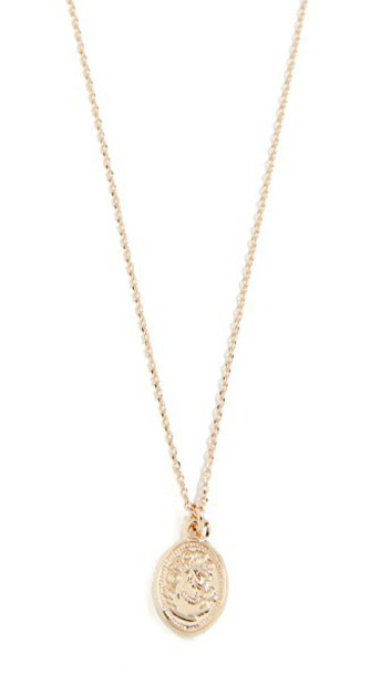 Cloverpost necklace gold yellow jewels