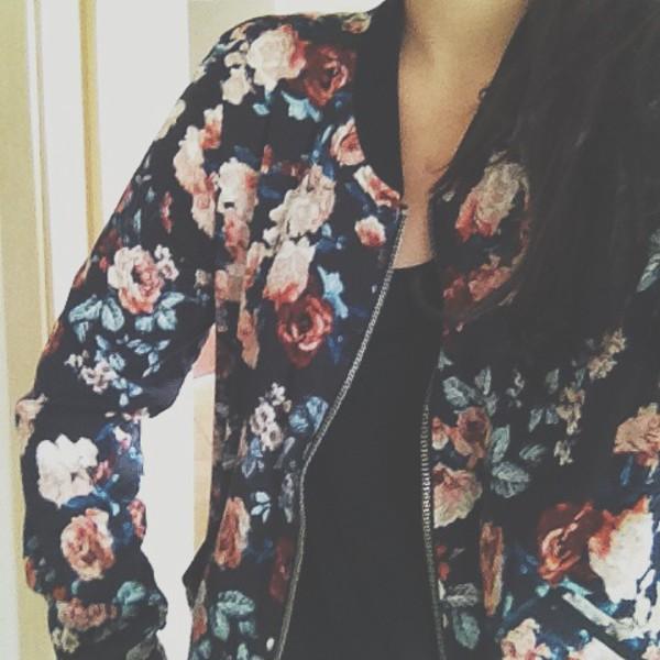 floral coat jacket