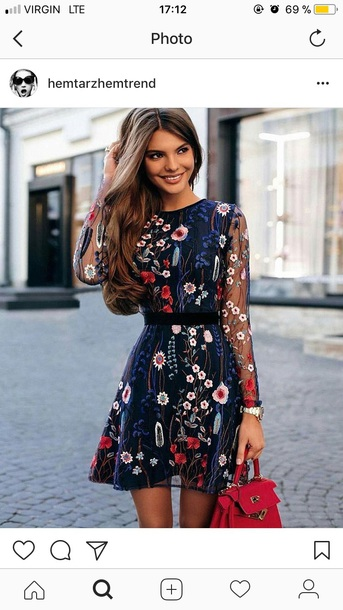 dress colorful flowers