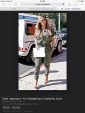 jumpsuit,kim kardashian jumpsuit khaki green,kim kardashian