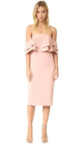 Keepsake Two Fold Dress - Dusty Pink