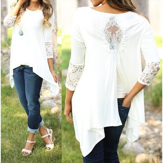 blouse lace fashion style stylish cute dress cute beautiful girly trendy pretty fashionista cool summer casual white classic crochet sweet fabulous beach charming lace dress sexy sexy dress gorgeous summer outfits white blouse long sleeves