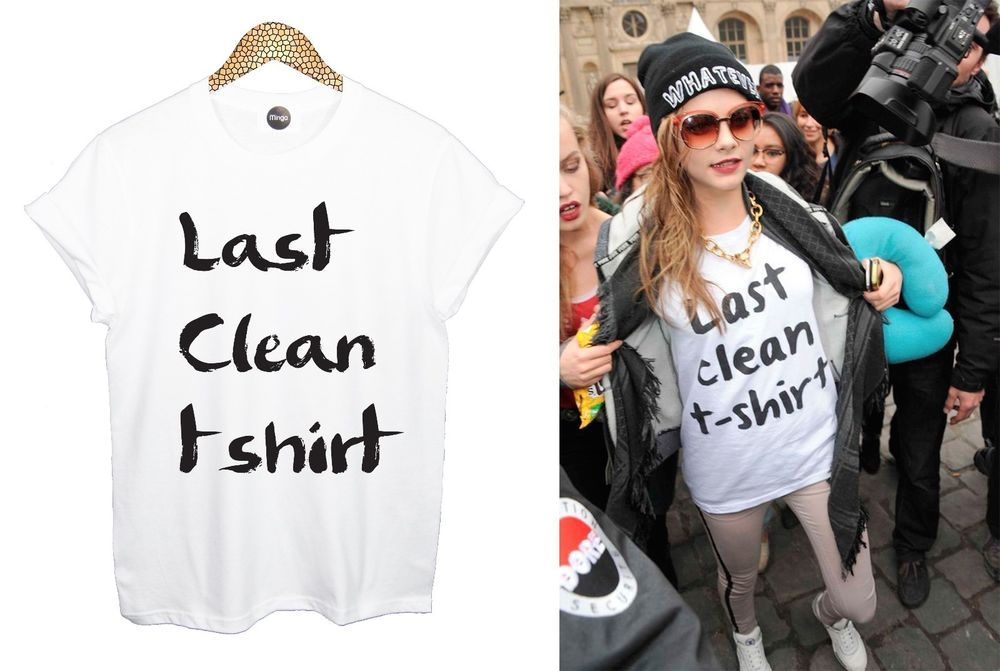 LAST CLEAN T SHIRT TOP TEE VEST CARA TUMBLR HIPSTER DOPE FASHION HIP HOP UNISEX