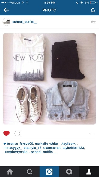 shirt new york shirt new york city new york white crop tops white t-shirt white shirt crop tops style tank top white tank top city outfits summer summer top summer outfits