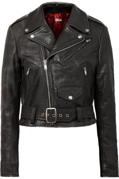 Re/Done jacket biker jacket leather black