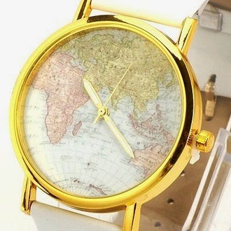 jewels gold watch map print world map watch bracelets map map watch jewelry