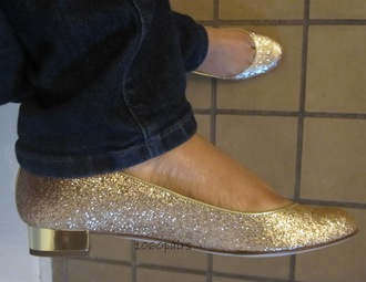 shoes flats gold ballet flats