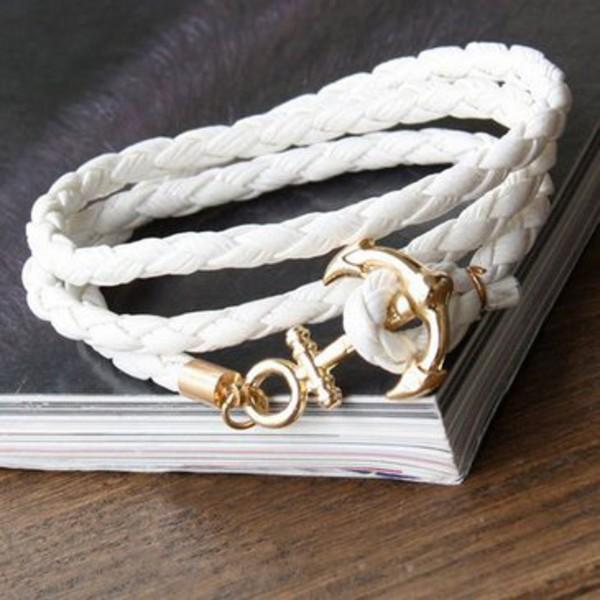 jewels rope bracelets set anchor