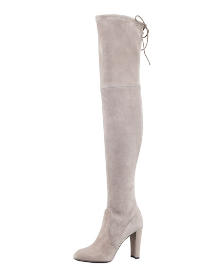 96015fe7e6f Stuart Weitzman Highland Suede Over-the-Knee Boot, Topo
