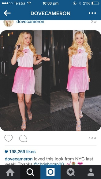 dress liv & maddie disney short dress short pink pink dress shoes heels hot pink pink prom dress light pink blush pink high heels