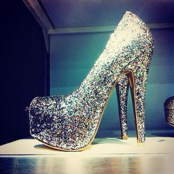 shoes glitter heels prom shoes glitter shoes