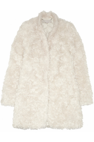 Stella McCartney | Bryce mohair-blend faux fur coat  | NET-A-PORTER.COM