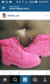 shoes,breastcancer,girlz,girl,6 inch,timberlands,timberland,timberland boots shoes,pink
