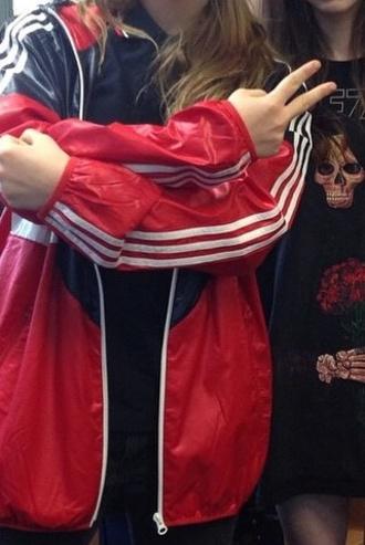 jacket geordie gray katrina geordie geordiegray grunge red cool red dress formal homecoming long t-shirt girl