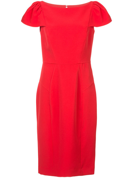 MILLY dress women spandex red