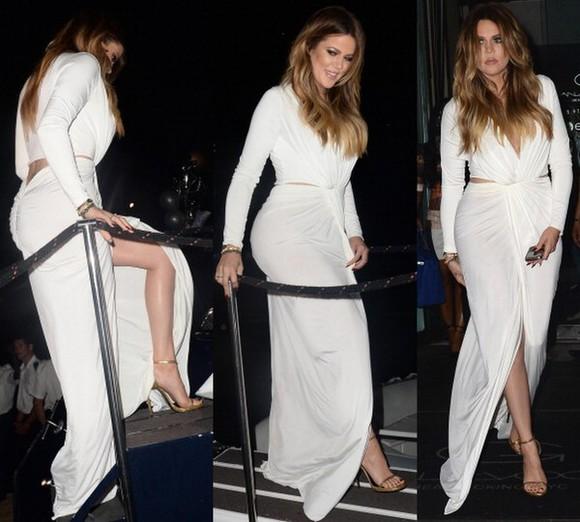 maxi dress v neck ruffles split long sleeves white dress jersey dress evening gown prom dresses 2014