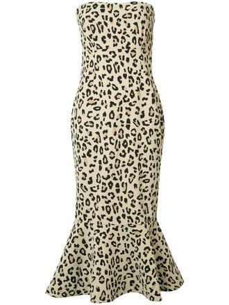 dress strapless dress strapless women animal nude print animal print