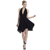 dress,black dress,v neck,short prom dress,halter neck,sexy party dresses,beach dress