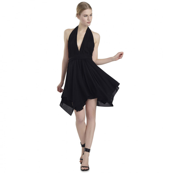 dress black dress v neck short prom dress halter neck sexy party dresses beach dress