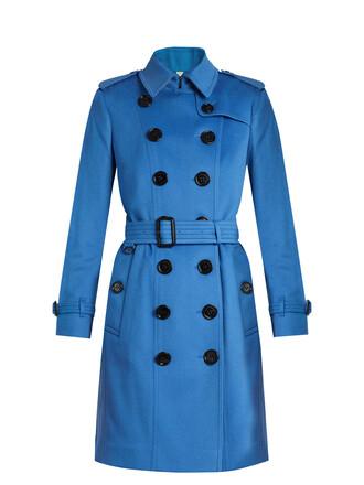 coat trench coat long blue