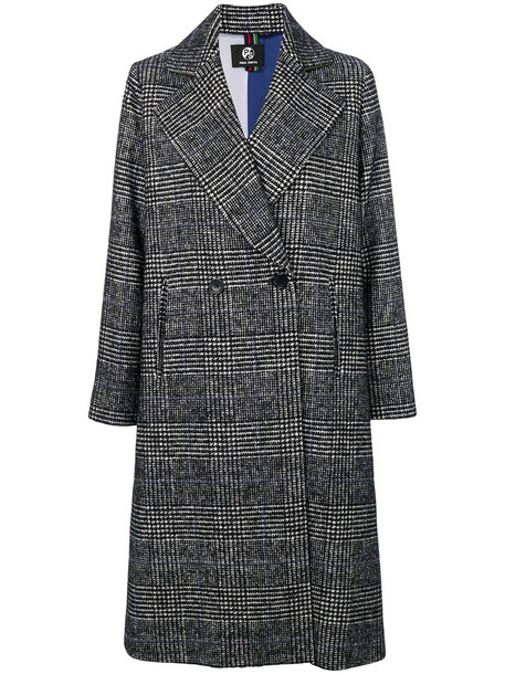 PS By Paul Smith coat double breasted women cotton wool grey
