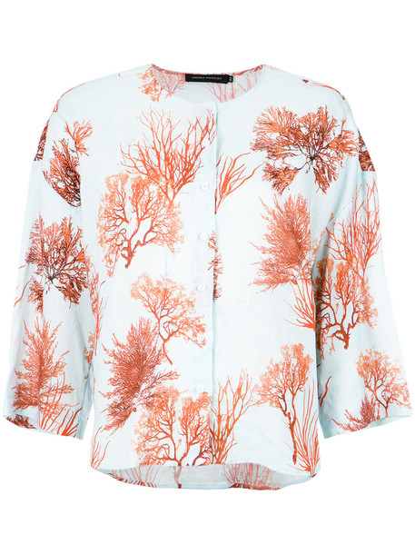 Andrea Marques shirt printed shirt women top