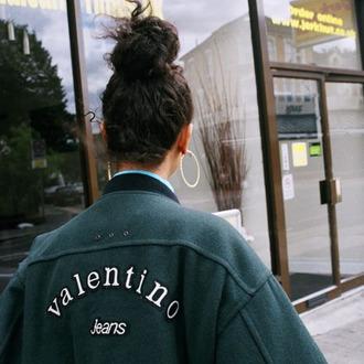 jacket valentino grunge valentinojeans green cute designer