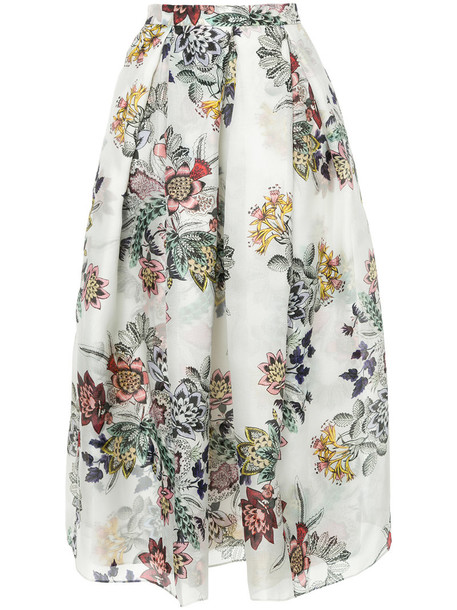 skirt high waisted high women silk grey