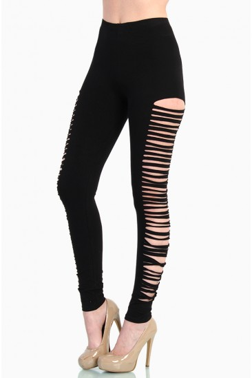OMG Side Cutout Leggings - Black